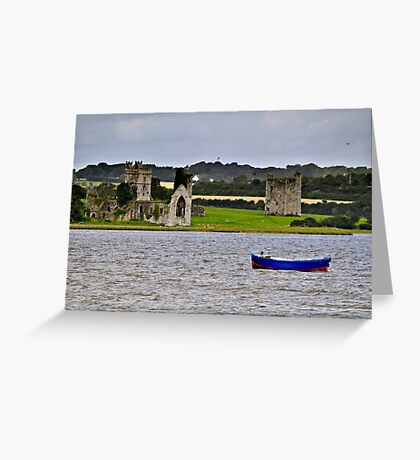 ruined abbey at Wellingtonbridge, County Wexford, Ireland Greeting Card