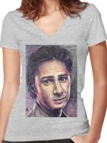 Zach Braff Women's Fitted V-Neck T-Shirt