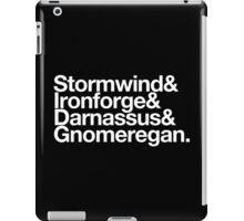 Vanilla Capitals : Alliance (Classic) - WoW goes Helvetica iPad Case/Skin