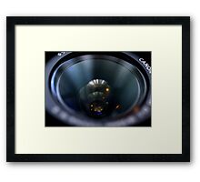 day 26: lens Framed Print