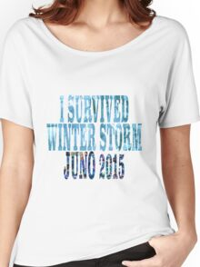 I Survived Winter Storm Juno 2015 Women's Relaxed Fit T-Shirt