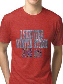 I Survived Winter Storm Juno 2015 Tri-blend T-Shirt