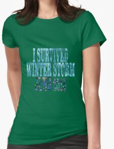 I Survived Winter Storm Juno 2015 Womens Fitted T-Shirt