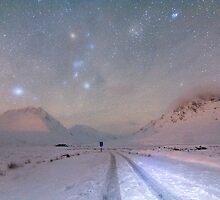 Skyfall of stars, Glen Etive, Scotland. by John O'Brien