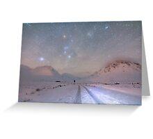 Skyfall of stars, Glen Etive, Scotland. Greeting Card