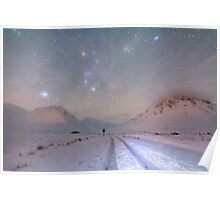 Skyfall of stars, Glen Etive, Scotland. Poster