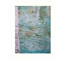 Fountain ripples Art Print