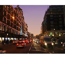 Knightsbridge by Night Photographic Print