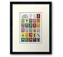 Watford A to Z Framed Print