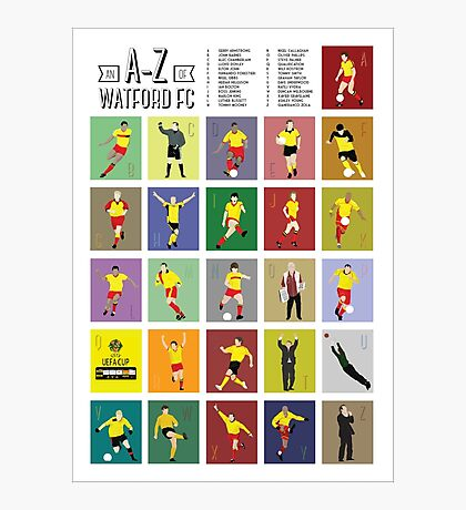 Watford A to Z Photographic Print