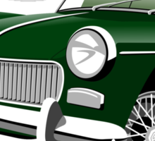 MG Midget Mark II British Racing Green Sticker