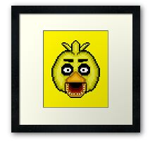 Five Nights at Freddy's 1 - Pixel art - Chica Framed Print
