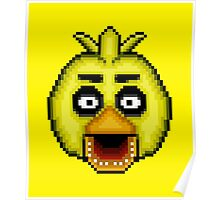 Five Nights at Freddy's 1 - Pixel art - Chica Poster