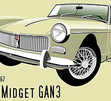 MG Midget Mark II old English white by car2oonz