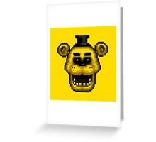 Five Nights at Freddy's 1 - Pixel art - Golden Freddy Greeting Card