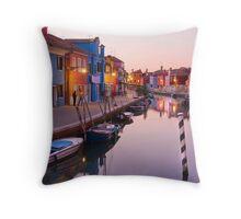 Burano dusk Throw Pillow