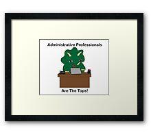Administrative Professionals Top Triceratops Dinosaur Framed Print
