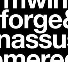 Sticker! Vanilla Capitals : Alliance (Classic) - WoW goes Helvetica Sticker