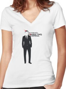Jim Moriarty - Consulting Criminal Women's Fitted V-Neck T-Shirt