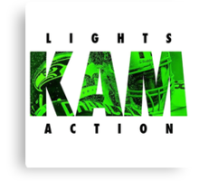 Lights Kam Action Canvas Print