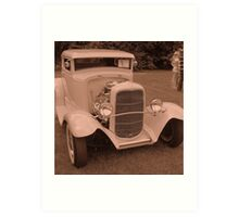 A Real Beauty...... Bonnie and Clyde were here! Art Print