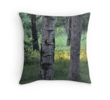 Forest Glade at Twilight Throw Pillow