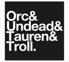 Sticker! Vanilla Races : Horde (Classic) - WoW goes Helvetica by merimeaux