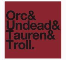 Sticker! Vanilla Races : Horde (Faction Spirit) - WoW goes Helvetica by merimeaux