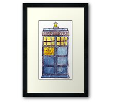 Police Box Watercolor Framed Print