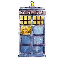 Police Box Watercolor Photographic Print