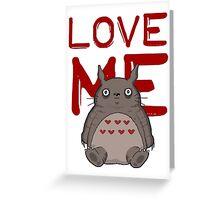 Valentine's Totoro Greeting Card