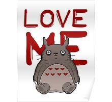 Valentine's Totoro Poster