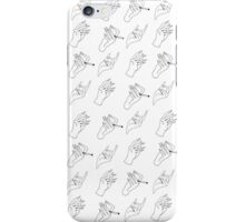 White Hands iPhone Case/Skin