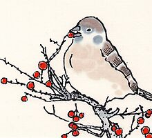 Winter Sparrow by dosankodebbie