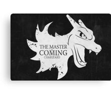 Master is Coming - Charizard Canvas Print