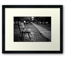 bench in park Framed Print