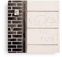 meet the fear Canvas Print
