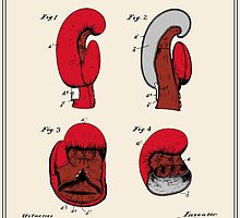 Boxing Glove Patent - Colour by FinlayMcNevin