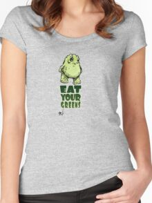 Eat Your Greens Women's Fitted Scoop T-Shirt