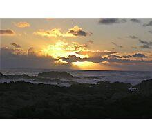 Blue Sky Rays Sunset Photographic Print
