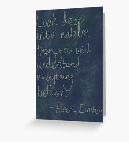 Nature Einstein Quote Greeting Card