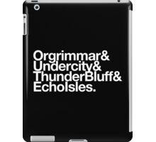 Vanilla Capitals : Horde (Classic) - WoW goes Helvetica iPad Case/Skin