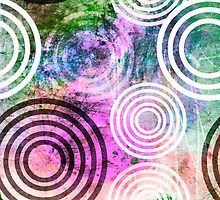 Grungy Pink/Green Circle Pattern by Groovyfinds