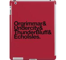 Vanilla Capitals : Horde (Faction Spirit) - WoW goes Helvetica iPad Case/Skin