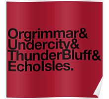 Vanilla Capitals : Horde (Faction Spirit) - WoW goes Helvetica Poster