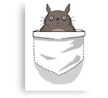Creepy Pocket Totoro Canvas Print