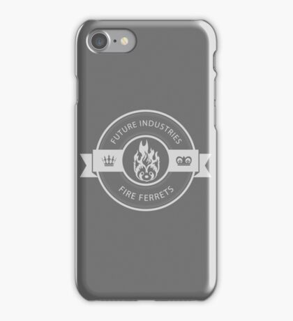 Vintage Future Industries Fire Ferrets Logo iPhone Case/Skin