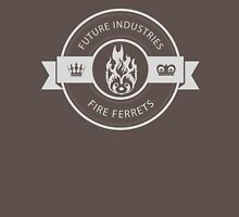 Vintage Future Industries Fire Ferrets Logo Mens V-Neck T-Shirt