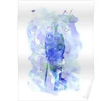 mycroft holmes - watercolor splatter Poster