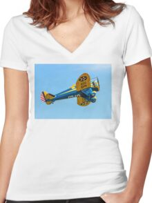 Boeing P-26A 33-123 N3378G Women's Fitted V-Neck T-Shirt